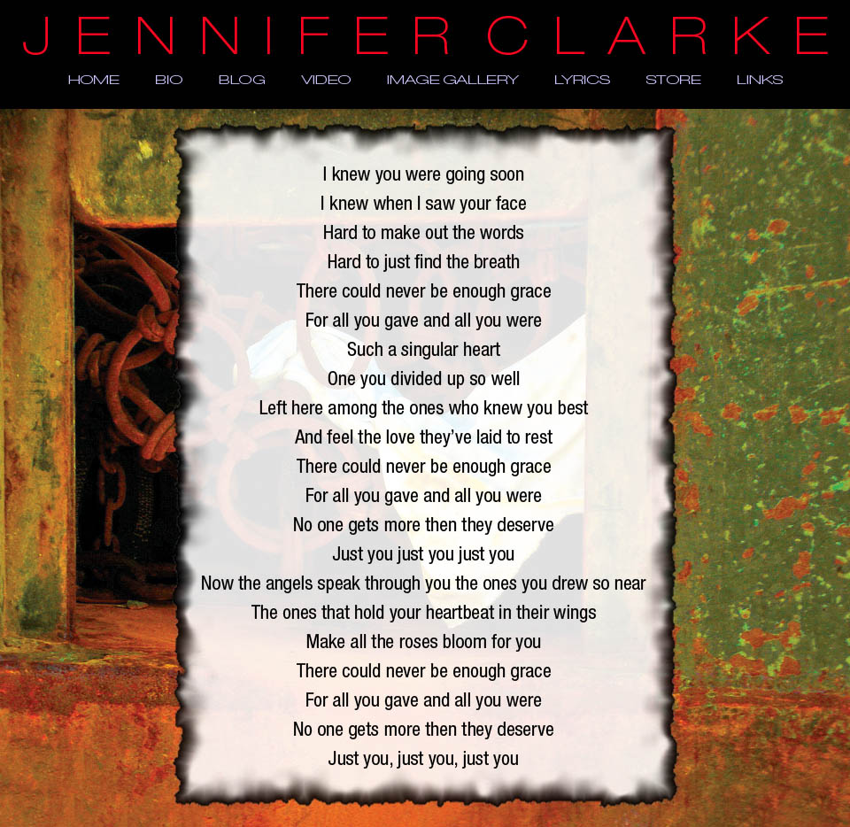 Jennifer Clarke - Singer Songwriter - Bio